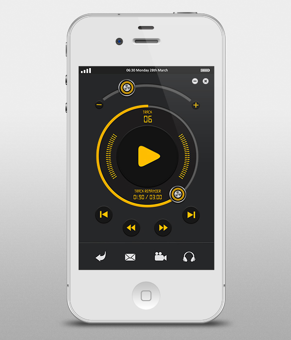 iphone music player player interface for iphone 12071